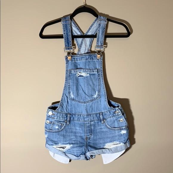 Garage Overall Shorts. Denim. Size XS.